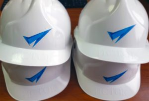 Строительные каски с логотипом 2